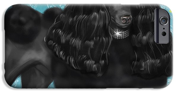Dog Mixed Media iPhone Cases - Show Dog Poodle iPhone Case by Shari Warren