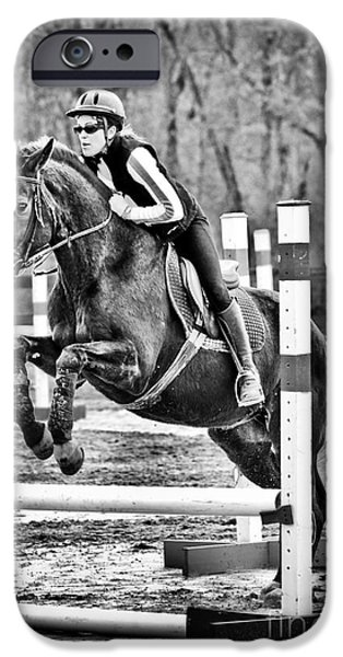 Horse Bit iPhone Cases - Show Horse Jumping  iPhone Case by Jt PhotoDesign