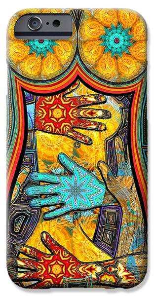Pen And Ink iPhone Cases - Show of Hands iPhone Case by Joseph J Stevens