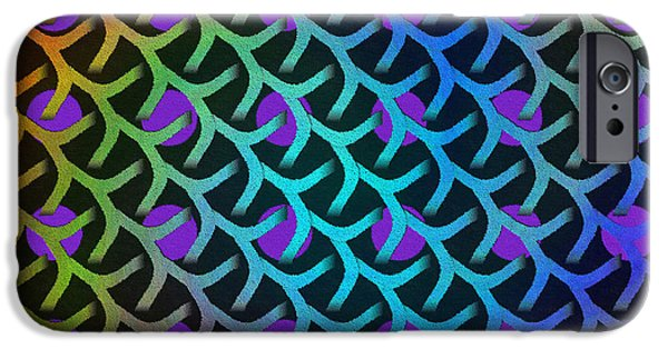 Concept Art iPhone Cases - Shreaded Patterns and Textures iPhone Case by Glenn McCarthy Art and Photography