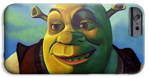 Computers iPhone Cases - Shrek iPhone Case by Paul Meijering