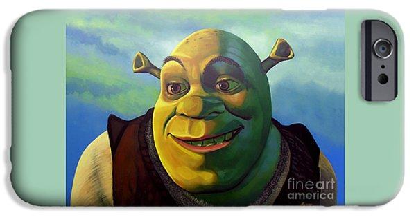 Film iPhone Cases - Shrek iPhone Case by Paul Meijering