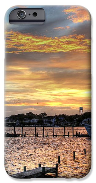Shrimp Boats at Sunset iPhone Case by Benanne Stiens
