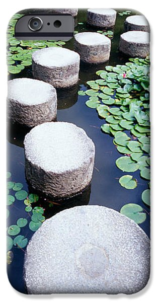 19th Century iPhone Cases - Shrine Garden, Kyoto, Japan iPhone Case by Panoramic Images