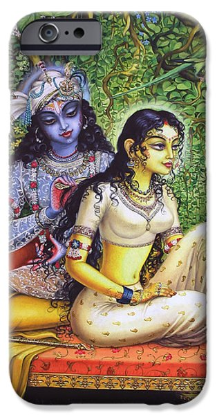 Hinduism iPhone Cases - Shringar lila iPhone Case by Vrindavan Das