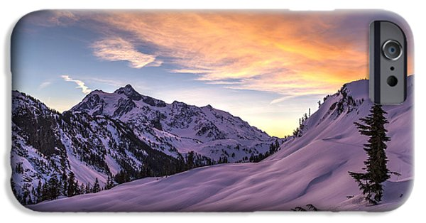 Mounted iPhone Cases - Shuksan Morning Skies iPhone Case by Mike Reid