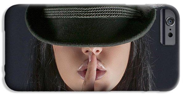 Censorship iPhone Cases - Shush  iPhone Case by Guy Viner