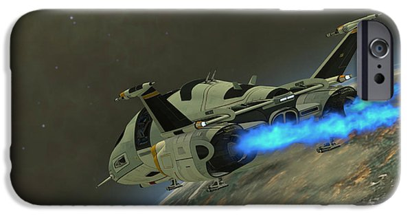 Stellar iPhone Cases - Shuttlestar Transport iPhone Case by Corey Ford