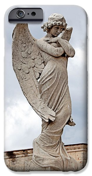 Seraphim Angel iPhone Cases - Shy Angel iPhone Case by Terry Reynoldson