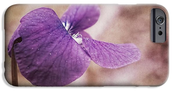 Artography Photographs iPhone Cases - Shy Violet iPhone Case by Melissa Bittinger