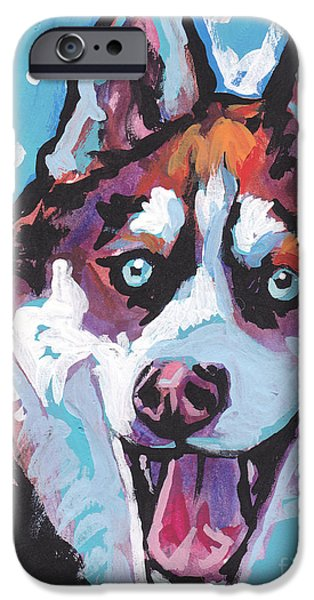 Huskies iPhone Cases - Sibe by sibe iPhone Case by Lea