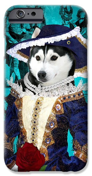 Husky Art iPhone Cases - Siberian Husky Art Canvas Print - Baroness iPhone Case by Sandra Sij