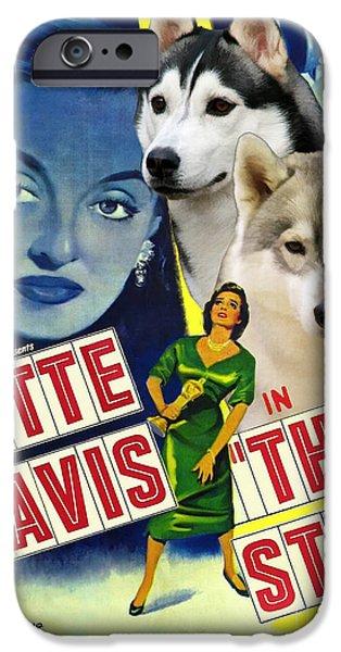 Huskies Paintings iPhone Cases - Siberian Husky Art Canvas Print - The Star Movie Poster iPhone Case by Sandra Sij