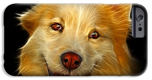 Mixed Labrador Retriever iPhone Cases - Siberian Husky Mix Dog Pop Art - 5060 BB iPhone Case by James Ahn