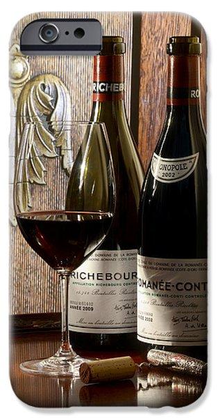 Wine Bottles iPhone Cases - Sibling Rivalry iPhone Case by Jon Neidert