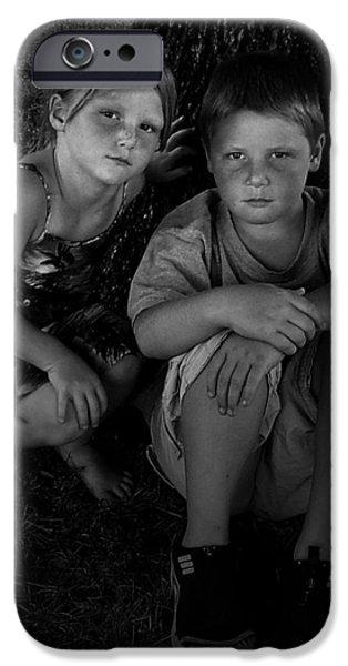 Siblings iPhone Case by Julie Dant