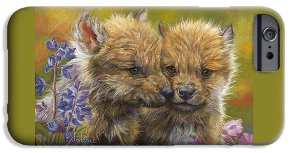 Baby Animal iPhone Cases - Siblings iPhone Case by Lucie Bilodeau