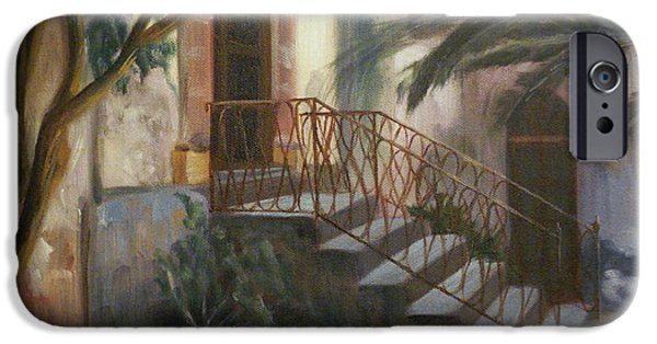 Sicily Paintings iPhone Cases - Sicilian Nunnery iPhone Case by Donna Tuten
