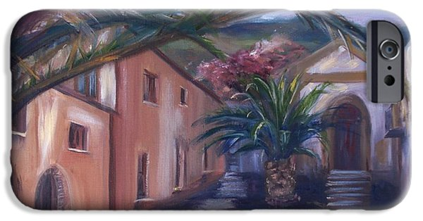 Sicily Paintings iPhone Cases - Sicilian Nunnery II iPhone Case by Donna Tuten