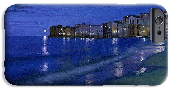 Sicily Paintings iPhone Cases - Sicilian Sunset iPhone Case by Cecilia  Brendel