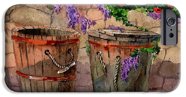 Sicily Paintings iPhone Cases - Sicilian Twin Barrels iPhone Case by Kathleen  Gwinnett
