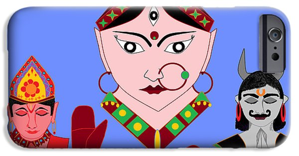 Hindu Goddess iPhone Cases - Siddhidatri iPhone Case by Pratyasha Nithin