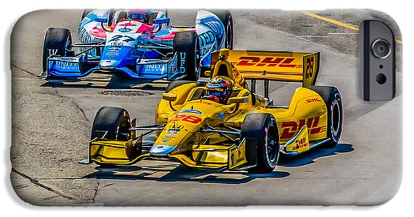 James Hinchcliffe iPhone Cases - Side by Side iPhone Case by Andy Glavac