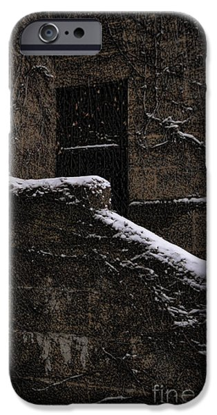 Entrance Door Photographs iPhone Cases - Side door iPhone Case by Jasna Buncic