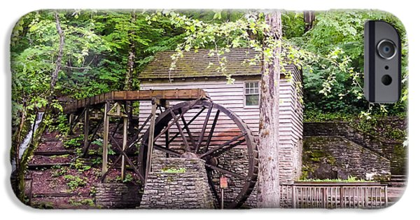 Tennessee Historic Site iPhone Cases - Side View of Rice Grist Mill Norris Dam State Park Tennessee iPhone Case by Cynthia Woods