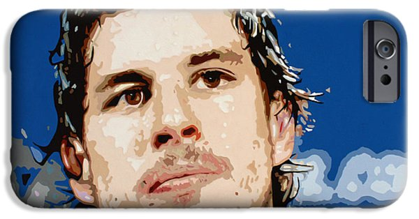 Hockey Paintings iPhone Cases - Sidney Crosby iPhone Case by Dennis Nadeau