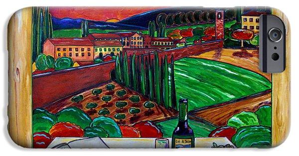 Table Wine iPhone Cases - Siena Hillside iPhone Case by Patti Schermerhorn