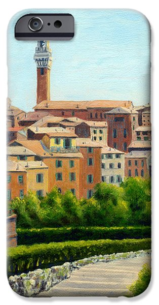 Staris iPhone Cases - Siena Italy iPhone Case by Elaine Farmer