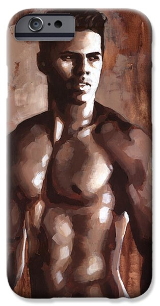 Figures Paintings iPhone Cases - Sienna Marcus iPhone Case by Douglas Simonson