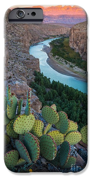 Drama iPhone Cases - Sierra del Carmen iPhone Case by Inge Johnsson