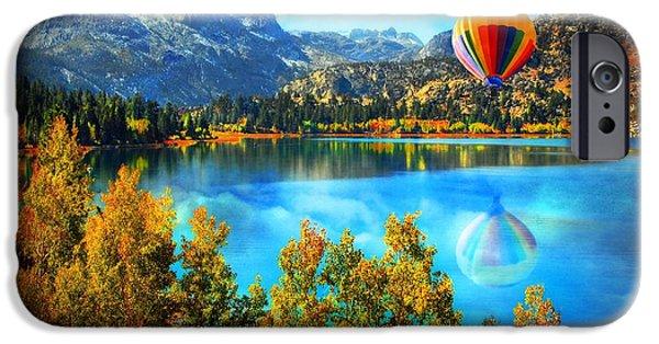 Hot Air Balloon iPhone Cases - Sierra Dreaming  iPhone Case by Lynn Bauer