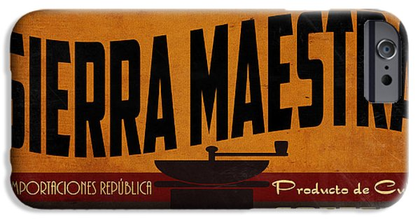 Havana iPhone Cases - Sierra Maestra Crate Label iPhone Case by Cinema Photography