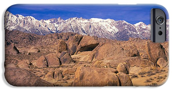 Red Rock iPhone Cases - Sierra Mountains, Owens Valley iPhone Case by Panoramic Images
