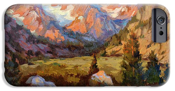 Sierras iPhone Cases - Sierra Nevada Mountains iPhone Case by Diane McClary