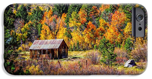 Rustic Barns iPhone Cases - Sierra Solitude 2 iPhone Case by Scott McGuire
