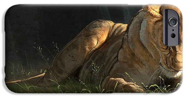 Lion Art iPhone Cases - Siesta 2 iPhone Case by Aaron Blaise