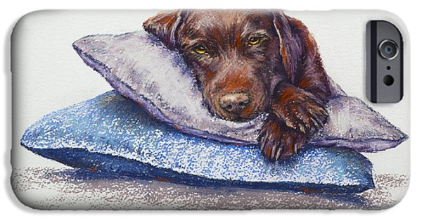 Puppies Pastels iPhone Cases - Siesta iPhone Case by Cynthia House
