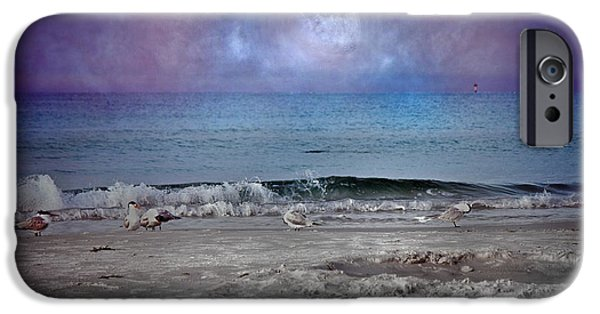 Cutler iPhone Cases - Siesta Key Moon in My Pocket iPhone Case by Betsy A  Cutler