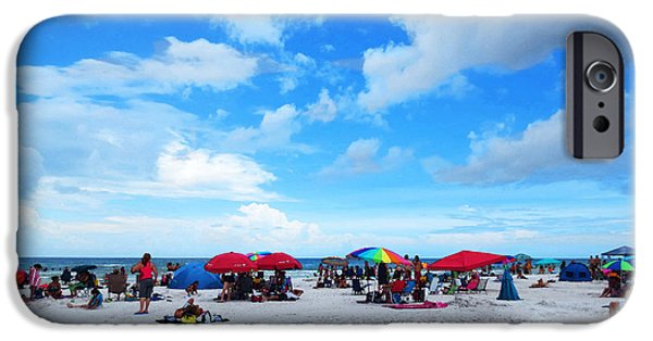 Fl iPhone Cases - Siesta Key Summer - Beach Art By Sharon Cummings iPhone Case by Sharon Cummings