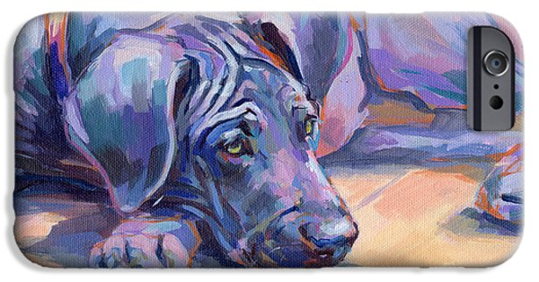 Pup iPhone Cases - Sigh iPhone Case by Kimberly Santini