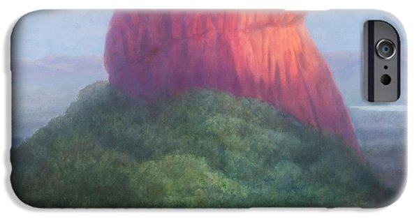 Buddhism iPhone Cases - Sigiriya I, Sri Lanka, 2012 Acrylic On Canvas iPhone Case by Lincoln Seligman