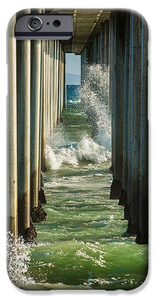 Turquois Water iPhone Cases - Sign Wave iPhone Case by Scott Campbell