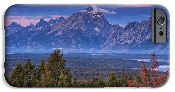 Beauty Mark iPhone Cases - Signal Mountain Sunrise iPhone Case by Mark Kiver