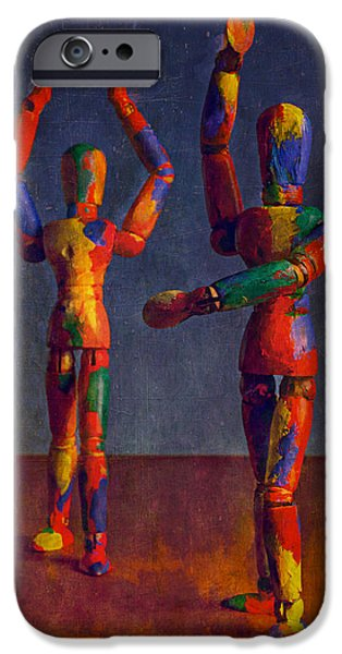 Puppets iPhone Cases - Signals iPhone Case by Jeff  Gettis