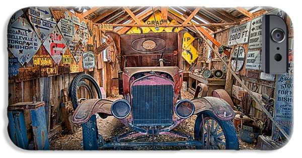 Old Cars iPhone Cases - Signs iPhone Case by Cat Connor
