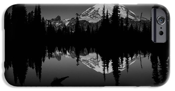 Beauty Mark iPhone Cases - Sihlouette with Tipsoo iPhone Case by Mark Kiver